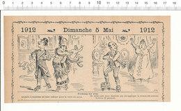 2 Scans Humour De 1912 Rinking Patin à Roulettes Patins à Frotter Cirage Parquet Aveugle Mendicité Mendiant 216PF3 A - Zonder Classificatie