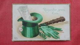 Saint-Patrick's Day  Remember Green Erin Embossed =ref 2699 - Saint-Patrick's Day