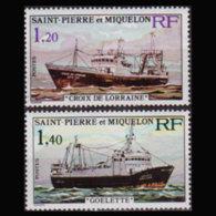 ST.PIERRE 1976 - Scott# 451-2 Fishing Vessels Set Of 2 MNH - St.Pierre & Miquelon