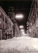 AMATRICE-RIETI-CORSO UMBERTO(NEVICATA)-CARTOLINA VERA FOTOGRAFIA VIAGGIATA IL 20-10-1970 - Rieti