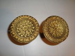 PAIRE AMBRASES  POUR RIDEAUX   EN BRONZE   MASSIF   XIXe - Bronzes