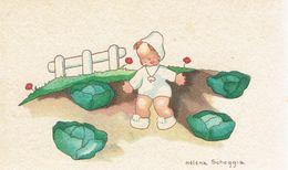 Choux Faire-part De Baptême Illustré Par Helena Scheggia, Jean-Claude Vandevelde Tirlemont Tienen 1944 - Naissance & Baptême