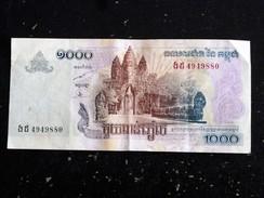 CAMBODGE CAMBODIA 1000 RIELS - BON ETAT MAIS A CIRCULE - 2007 - Cambodia