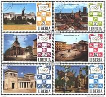 Liberia 786A-791A (kompl.Ausg.) Gestempelt 1971 Werbung Für 20.Olymp. Spiele - Liberia