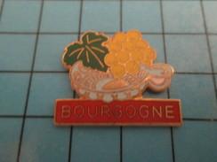 Pin815c Pin's Pins /   Rare Et De Belle Qualité !!! BOISSONS / LE 2e MEILLEUR VIN DE FRANCE : BOURGOGNE RAISIN VIGNE - Boissons
