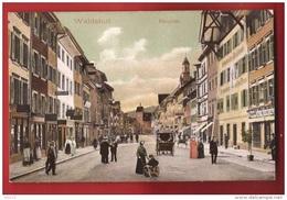 CDS3-08 Waldshut-Tiengen  Haupstrasse  Kutsche.  Stempel Zurzach 1911 - Waldshut-Tiengen