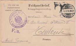 WW1 - Carte Lettre D Un Prisonnier De Guerre Du Camp De LIMBURG - Guerra De 1914-18