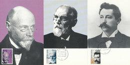 D31841 - 3 CARTES MAXIMUM CARDS FD 1993 NETHERLANDS - 3 DUTCH NOBEL PRIZE WINNERS CP ORIGINAL - Nobel Prize Laureates