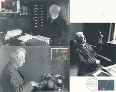 D31842 - 3 CARTES MAXIMUM CARDS FD 1991 NETHERLANDS - 3 DUTCH NOBEL PRIZE WINNERS CP ORIGINAL - Nobel Prize Laureates