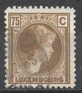 Luxembourg 1927. Scott #175 (U) Grand Duchess Charlotte - 1926-39 Charlotte De Profil à Droite