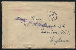 CANADA NANOOSE BAY GB LONDON WRECK 1945 SCYTHIA RUSSIA COUNT KIRCHHOFF - Commemorative Covers
