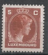 Luxembourg 1944. Scott #218 (MH) Grand Duchess Charlotte - 1944 Charlotte De Profil à Droite