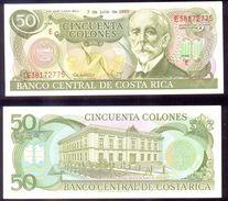 Costa Rica  50 Colones 7-7-1993  P-257   UNC - Costa Rica