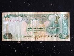 UNITED ARAB EMIRATES UAE EMIRATS ARABES UNIS 10 DIRHAMS - POIGNARD FAUCON - ETAT MOYEN - Emirats Arabes Unis