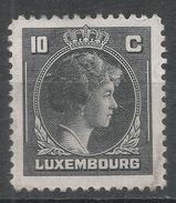 Luxembourg 1944. Scott #219 (MH) Grand Duchess Charlotte - 1944 Charlotte De Profil à Droite