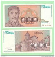 Yugoslavia 5000000 Dinar 1993 UNC - Joegoslavië