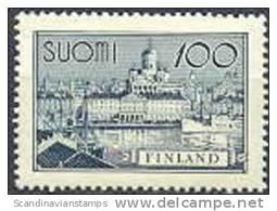 Finland 1942 100mk Schip En Gebouw Grijsblauw PF-MNH-NEUF - Finland