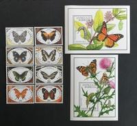 Antigua Barbuda 1991** Mi.1475-82 + Bl.199, 200. Butterflies [13;131] - Vlinders