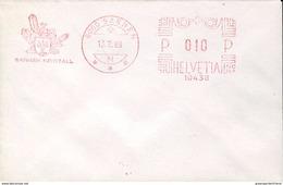 23101 Switzerland, Red Meter/freistempel/ema/ 1989 Sarnen, Sanner Kristall,  Minerals, Mineraux - Minéraux