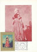 D31871 CARTE MAXIMUM CARD 1968 POLAND - POLKA BY WATTEAU CP ORIGINAL - Künste