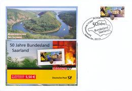 L4419 - BRD (2007) 53113 Bonn: 50 Years Bundesland Saarland (letter; Stamp: 0,55 EUR) - Umweltschutz Und Klima