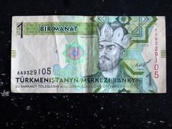 TURKMENISTAN 1 MANAT 2012 - Turkménistan