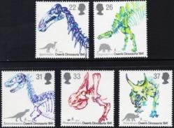 GREAT BRITAIN GB UK 1991 Dinosaurs, Fossils, Prehistorical Animals, Skeletons, Fauna MNH - 1952-.... (Elizabeth II)