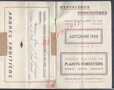 CATALOGUE DE 1958 HENRI BOUILLARD & FILS PÉPINIERES FORESTHIÈRES PLANTS FORESTIERS À USSY POUR SAINT PIERRE CANIVET : - France