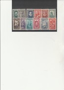 TIMBRES  CELEBRITES N° 587 A 598  NEUF SANS CHARNIERE - COTE : 32 €- ANNEE 1943 - Unused Stamps