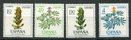 Sahara Espagnol ** N° 242 à 245 - Fleurs - - Végétaux