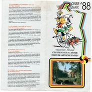 WK Wielrennen Cyclisme  Renaix Ronse 88  Foldertje Progamma Programme Parcours Championnat De Monde - Ciclismo