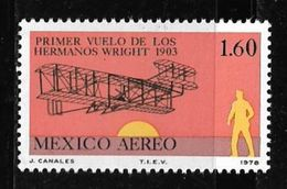 Mexico 1978 75th Year Of Jet Plane Invented By Wright Brothers 1.60P Mint MNH Stamp # AR:233 - Mexico
