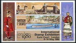 """Samoa ** Bloc N° 21 - """"London 1980"""" Expo Philat. Canoë Et Village De Samoa - - Samoa"""