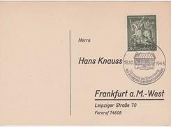 ALLEMAGNE 1943 CARTE DE HANAU - Germany