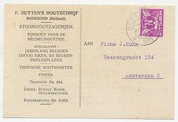 Firma Briefkaart Roermond 1933 - Houtbedrijf - 1891-1948 (Wilhelmine)