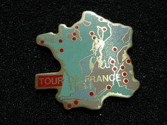 PIN'S  CYCLISME TOUR DE FRANCE 1991 CARTE DE FRANCE - Cyclisme