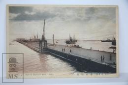 Old Postcard Japan - Pier Of Harbour Work. Osaka  - Posted 1915 - Osaka