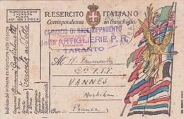 Guerre 14-18  -  Cartes De Franchises Militaires Italiennes -Correspondenza In Franchigia  Italie/Italia - 1900-44 Vittorio Emanuele III