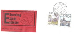 Express Frankatur  Kloster  (PTT Form 236.34)             1986 - Covers & Documents