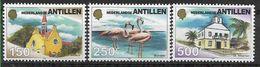 1999 ANTILLES NEERLANDAISES 1188-90** Eglises, Flamant Rose - Niederländische Antillen, Curaçao, Aruba