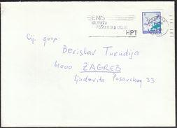 Yugoslavia Croatia Zagreb 1991 / EMS - Quickest Postal Service / Post / Machine Stamp - Correo Postal