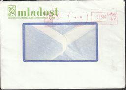 Yugoslavia Croatia Zagreb 1986 / Mladost / Publishing Company / Machine Stamp - 1945-1992 Socialistische Federale Republiek Joegoslavië