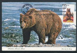 Etats Unis - Carte Maximum 1987 - Animaux - L' Ours - Maximumkarten (MC)