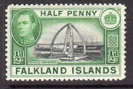 Falkland Islands GVI 1938-50 ½d Whale Jawbones Definitive, Lightly Hinged Mint, SG 146 - Falklandeilanden