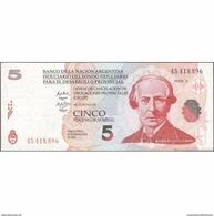 TWN - ARGENTINA S-NEW - 5 Pesos 2001 Banco De La Nacion Argentina LECOP - Redemption 30.9.2006 AU/UNC - Argentinië