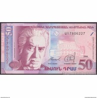 TWN - ARMENIA 41 - 50 Dram 1998 UNC - Armenia