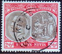 ST KITTS_NEVIS 1920 SG #33 2sh6d Used Wmk Mult.Crown CA CV £42 - St.Christopher-Nevis-Anguilla (...-1980)