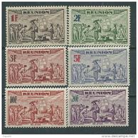 Réunion PA N° 18 / 23  X Tricentenaire Du Rattachement à La France, La Série Des 6 Valeurs  Trace De Charnière Sinon TB - Neufs