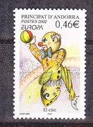 Europa Cept 2002 Andorra Fr 1v ** Mnh (36867A) Promotion - Europa-CEPT
