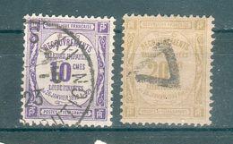 FRANCE ; Taxes ; 1908-26 ; Y&T N°44-45 Papier GC ; Lot :  ; Oblitéré - Impuestos